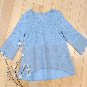 Anthropologie Knitted & Knotted lace sweater, S.